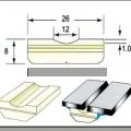 Sứ lót đường hàn loại Rãnh 12mm WS-601; Tròn WS-606 F10 F12 3